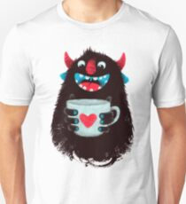 Demon with cup Unisex T-Shirt