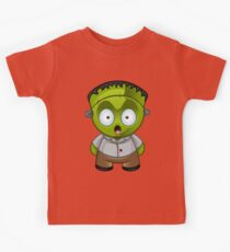 Frankenstein Monster Boy Shocked Kids Tee