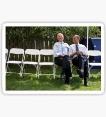 Joe and Barack Have a Chat Sticker