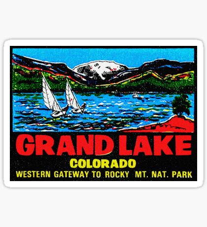 Grand Lake Colorado Vintage Travel Decal Sticker