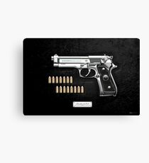 Beretta 92FS Inox over Black Velvet Canvas Print