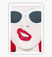 Lip Piercing Popart Sticker