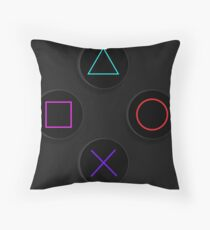 PS4 Buttons Throw Pillow