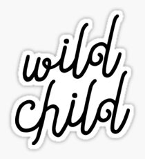 Wild Child Typography  Sticker
