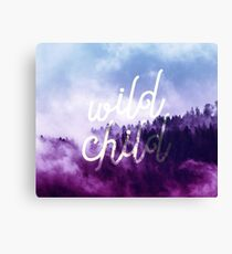 Wild Child Typography  Canvas Print