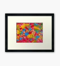 Blooming Meadow. Flowers Abstract Pattern. Framed Print