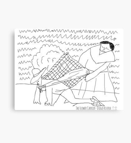Flower Carrier - Diego Rivera Canvas Print