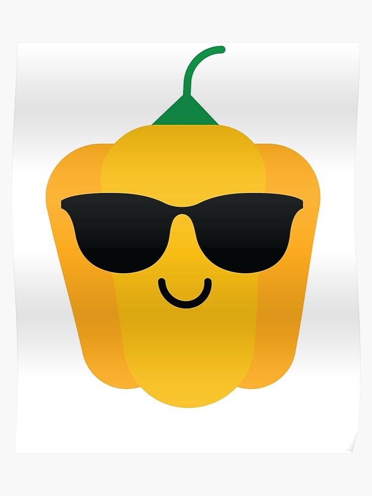 TeeandmeeRedbubble Sol» Pepper Emoji «bell De Gafas Póster Cool Ibfm6gyvY7
