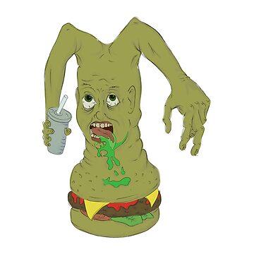 Mutant Man-Burger by mattredmond