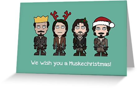 The Musketeers Christmas card 1 by redscharlach
