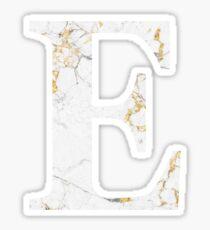 Epsilon - Gold Foiled White Marble Sticker