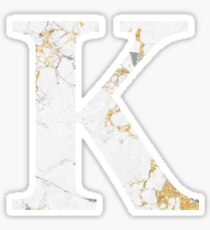 Kappa - Gold Foiled White Marble Sticker