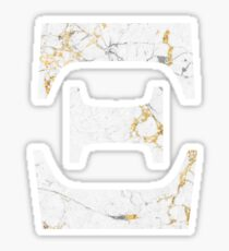 Xi - Gold Foiled White Marble Sticker