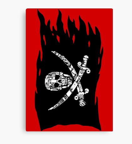 Digital Pirate Jolly Roger Canvas Print