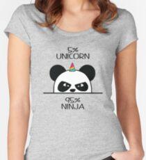 Unicorn Ninja Panda Women's Fitted Scoop T-Shirt