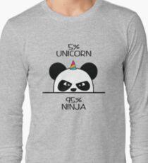 Unicorn Ninja Panda Long Sleeve T-Shirt
