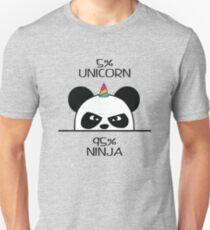 Camiseta ajustada Unicornio Ninja Panda