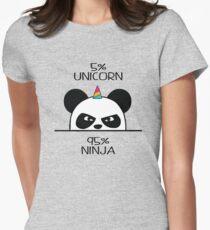 Unicorn Ninja Panda Womens Fitted T-Shirt