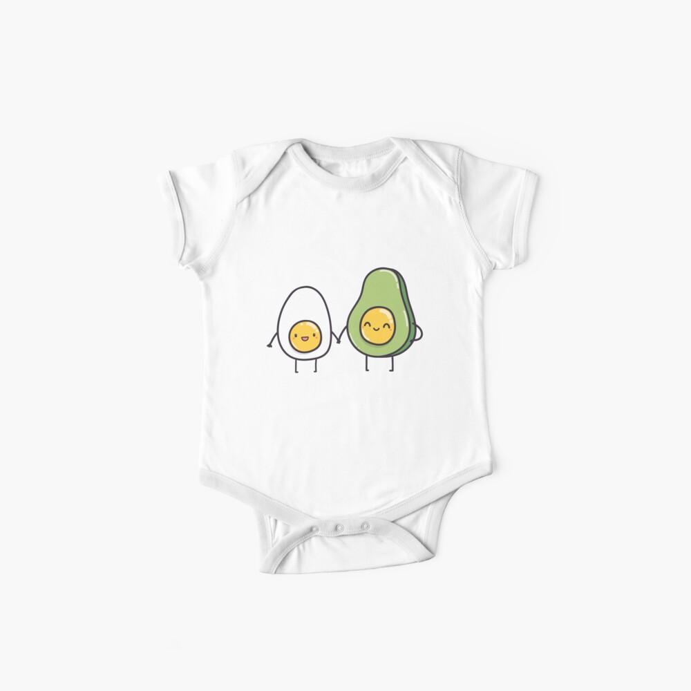 Ei und Avocado Baby Bodys