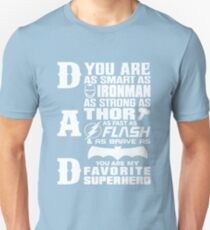 Dad - Superhero - Dad Gifts For Father's Day Unisex T-Shirt