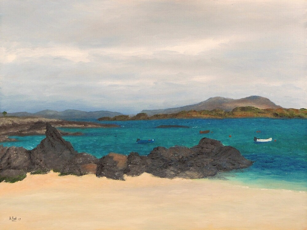 Waiting for the ferry, Iona by Richard Paul