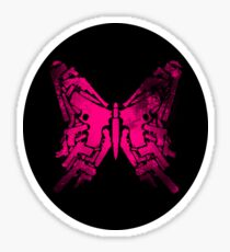 Gun Butterfly Sticker