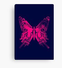 Gun Butterfly Canvas Print