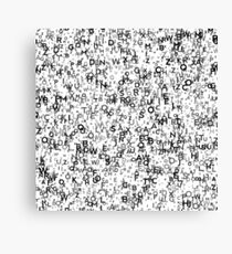 Abstract Seamless Background with Letters. Canvas Print