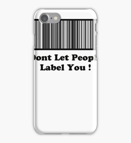 dont label people
