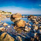 Rocks on Amerador Beach El Campello by Ralph Goldsmith