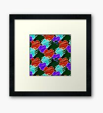Noir Cartoon Hearts Framed Print