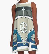Hippies Bus Peace N Love A-Line Dress