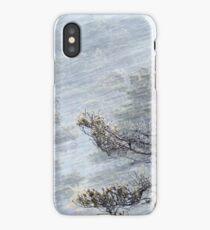 12.1.2017: Pine Tree in Blizzard II iPhone Case