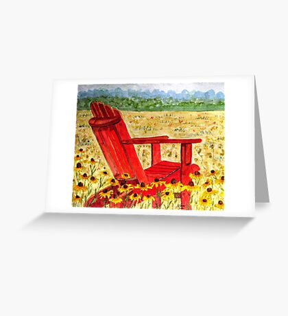 Meet Me In The Meadow Greeting Card