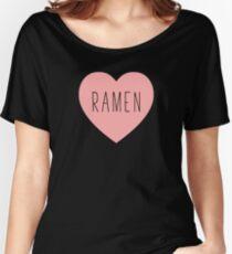 I Love Ramen Heart   Noodle Noodles  Hearts Print Women's Relaxed Fit T-Shirt