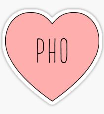 I Love Pho Heart | Soup | Noodle Noodles| Hearts Print Sticker