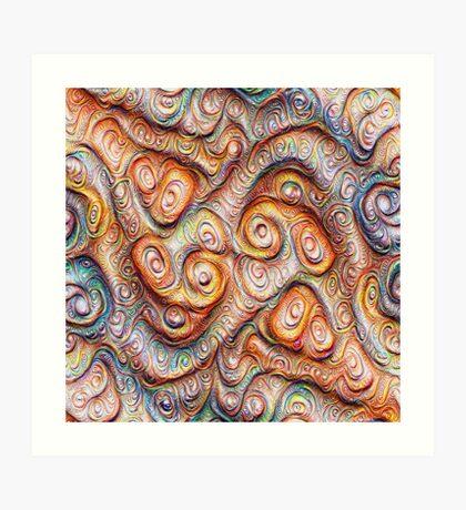 Frozen Abstract Energy #DeepDream #Art Art Print