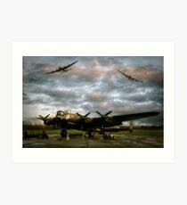 The Avro Lancaster Trio Art Print