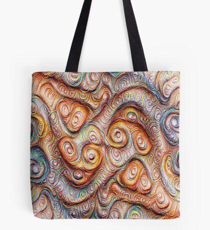 Frozen Abstract Energy #DeepDream #Art Tote Bag