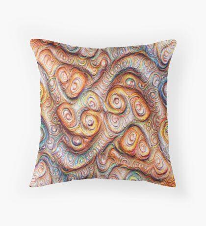 Frozen Abstract Energy #DeepDream #Art Throw Pillow