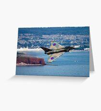Typhoon Gina at Dawlish air show Greeting Card