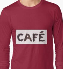 Café word made out of coffee beans T-Shirt