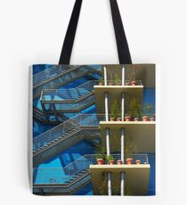 Fire Stairs Tote Bag