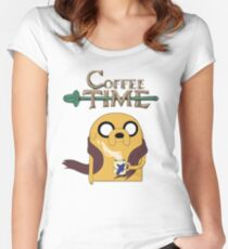 It's Coffee Time! Women's Fitted Scoop T-Shirt