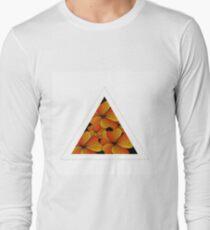 orange flowers in triangle T-Shirt