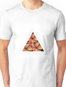 orange flowers in triangle Unisex T-Shirt