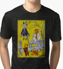 """""""Dorothy gazed thoughtfully at the Scarecrow."""" Tri-blend T-Shirt"""