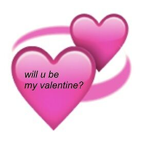 Will U Be My Valentine? Emoji