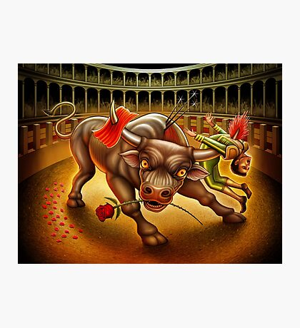 Bull Fight Photographic Print