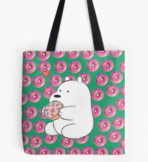 we bare bears- donut Tote Bag